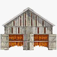 3d tobacco barn