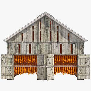 3d tobacco barn