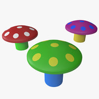 toy mushrooms 3d max