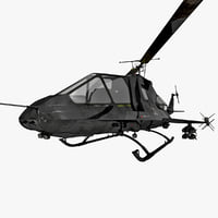 US Stealth Helicopter 2 Rigged