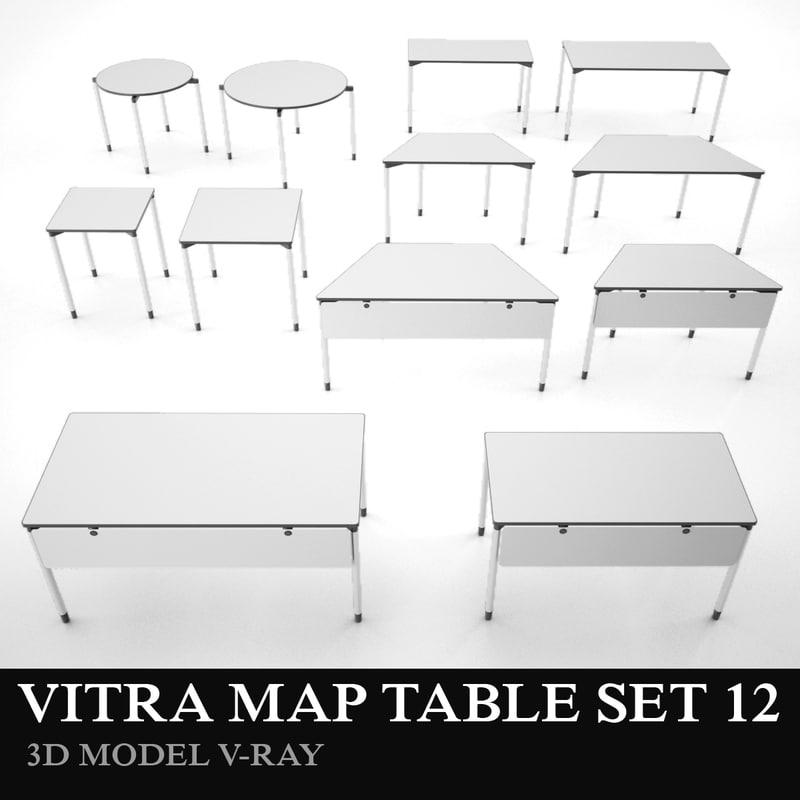 3d model vitra table set