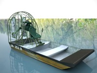 3dsmax airboat boat air