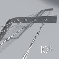 3d model metal barbed wire