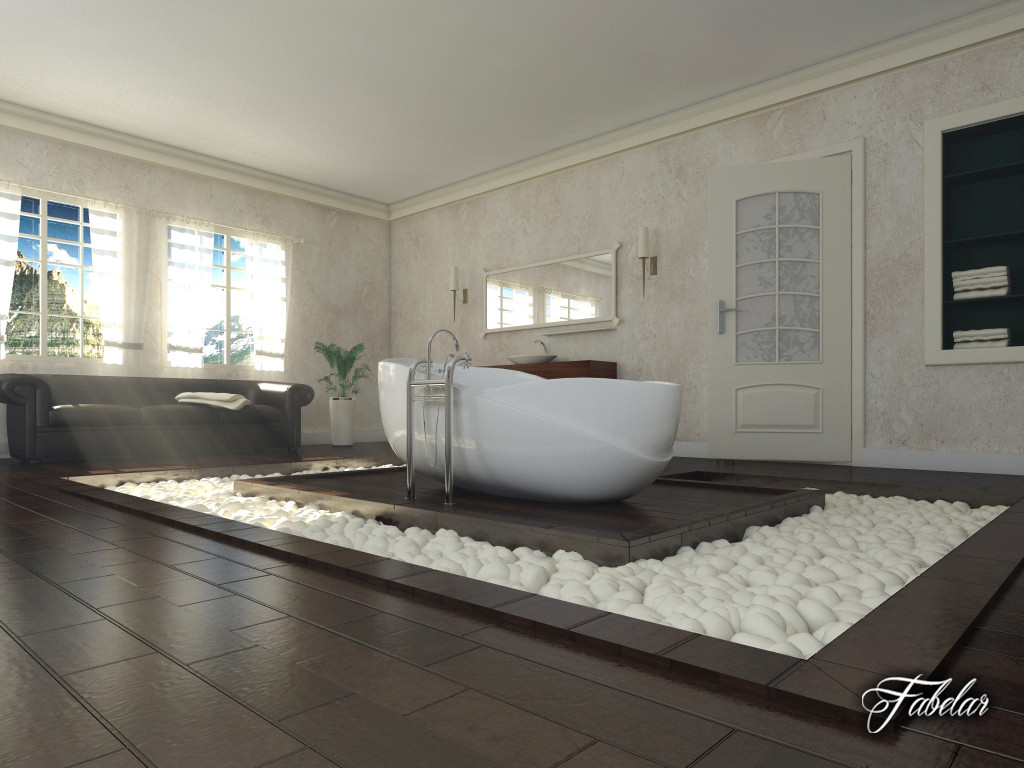 3d bathroom scene model for Bathroom design 3d model