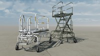 3d model aviation ladders aircraft