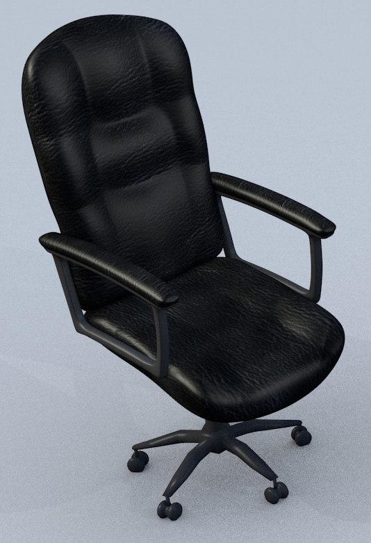computer chair 3d model