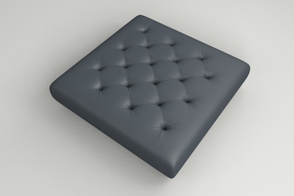 free c4d model chesterfield pillow