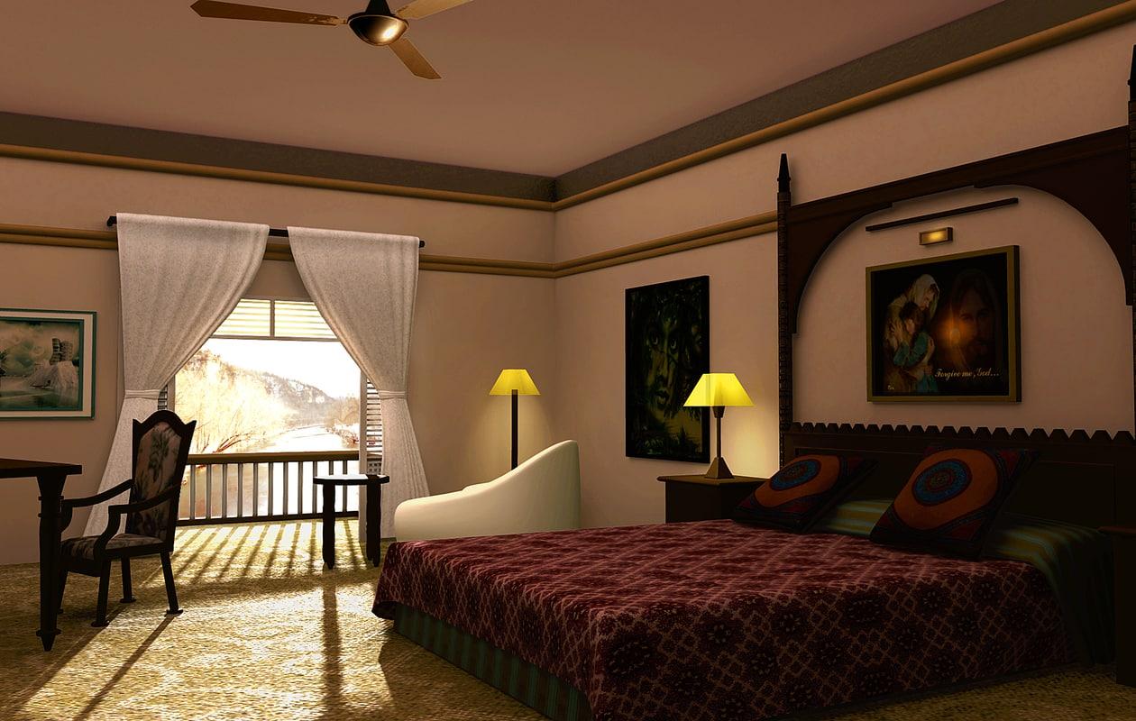 bed room 3d ma