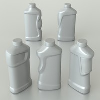 3d generic bottle household model