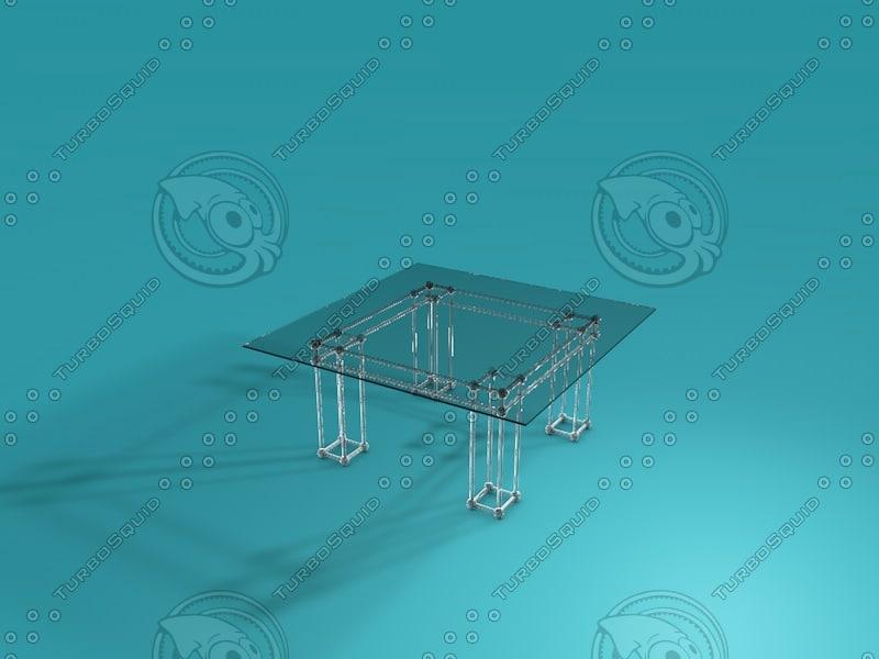 glass table 3d c4d