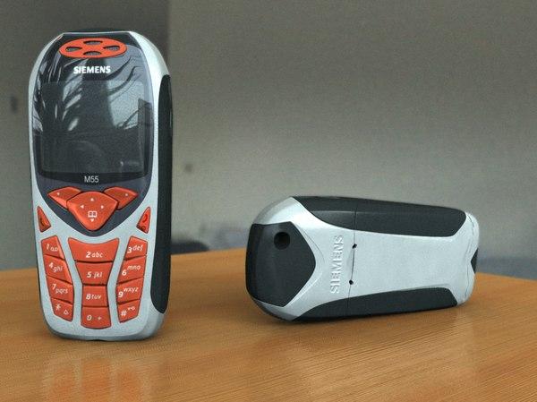 siemens m55 cell phone 3d model