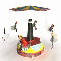 3ds max old school carousel