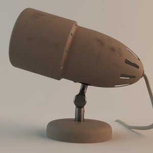 3d model of table lamp 60s
