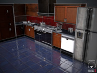 Kitchen Set - Low Poly Game Ready