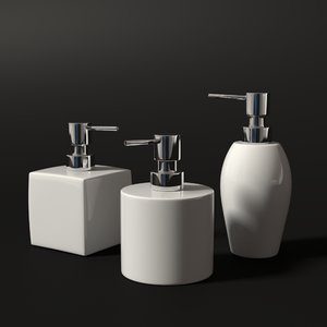 3d model of soap dispensers