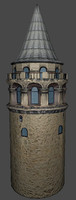 Lowpoly Galata Tower