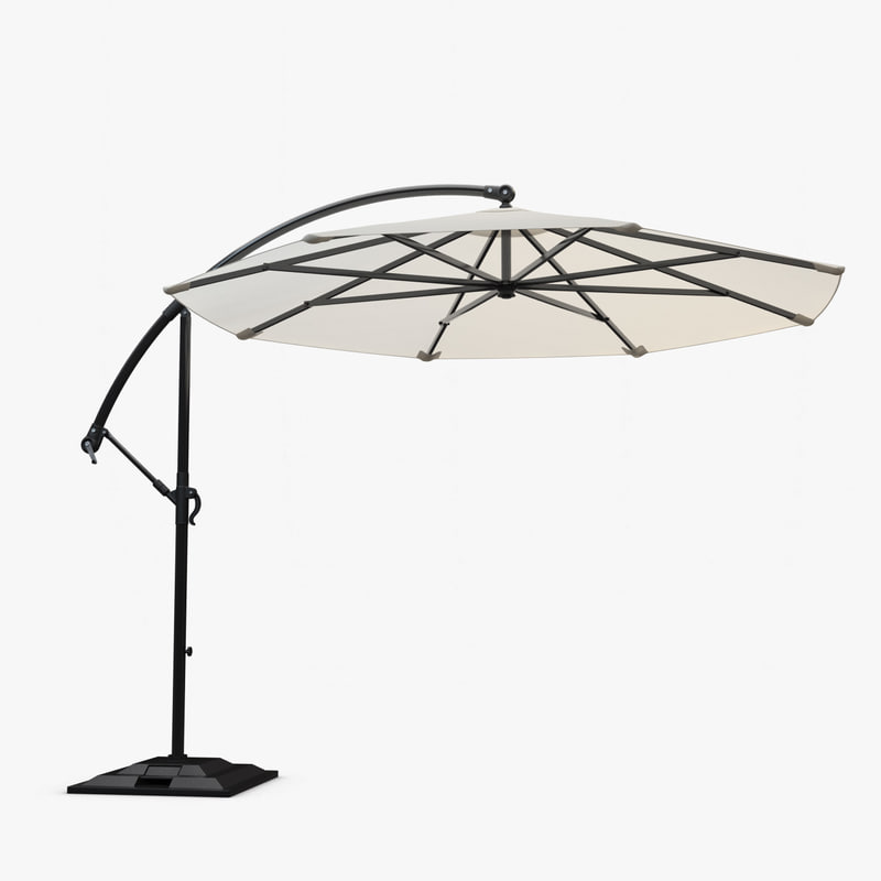 3d sunbrella based daffodil umbrella model