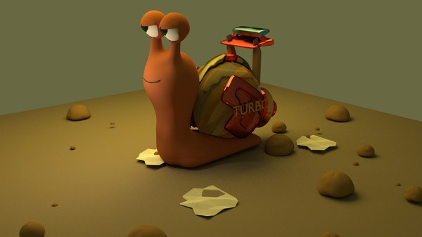 turbo snail 3d model