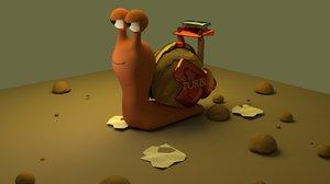turbo snail 3d model