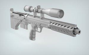 3d model tactical dta srs sniper rifle
