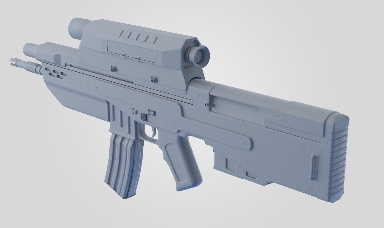 3d prototype rifle model