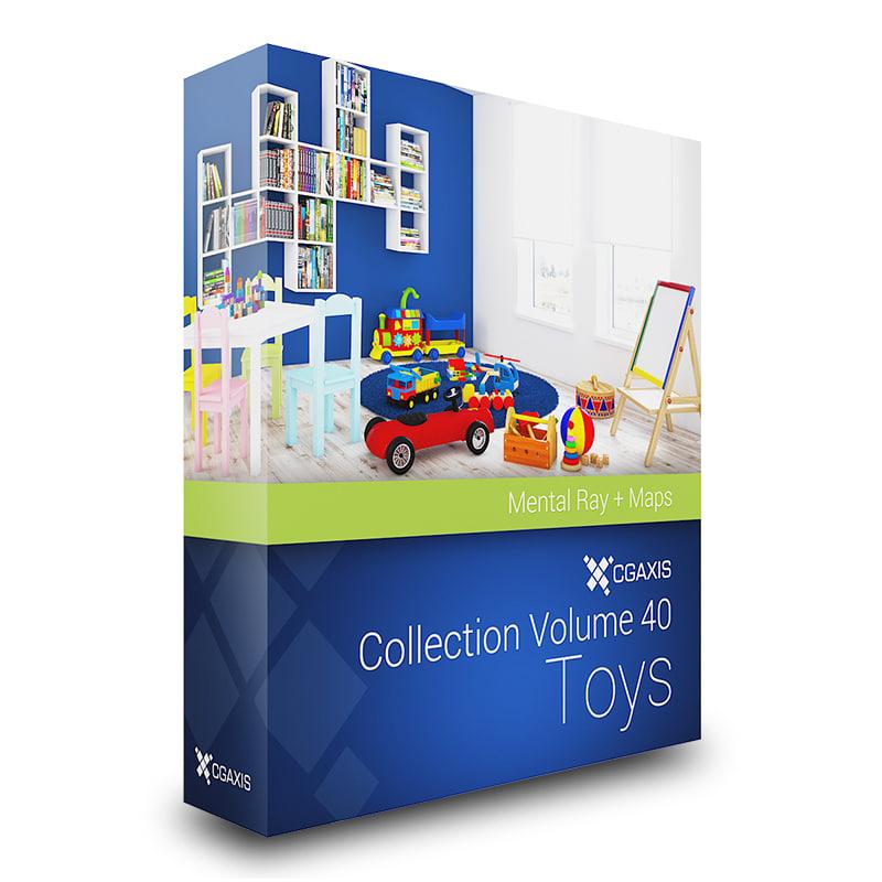 3d volume 40 toys model