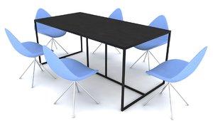 3d boconcept ottawa chairs table