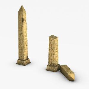 3dsmax obelisk egypt egyptian
