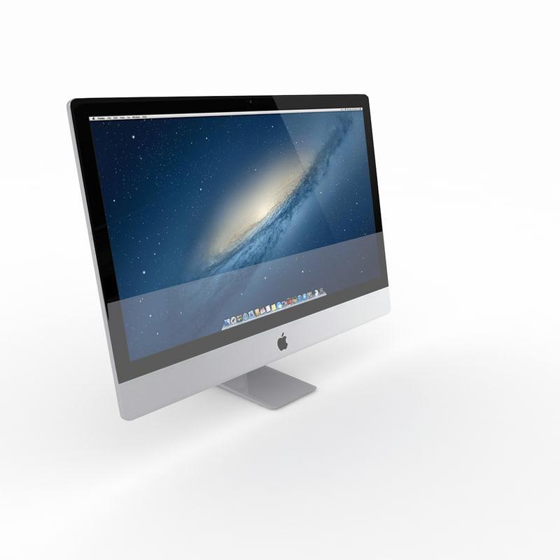 3d model new imac mac