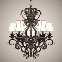 classic chandelier lights obj