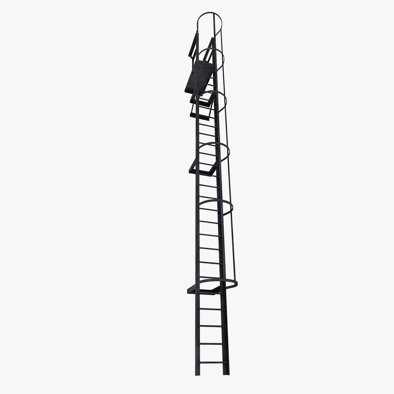 ladder metal 3d max