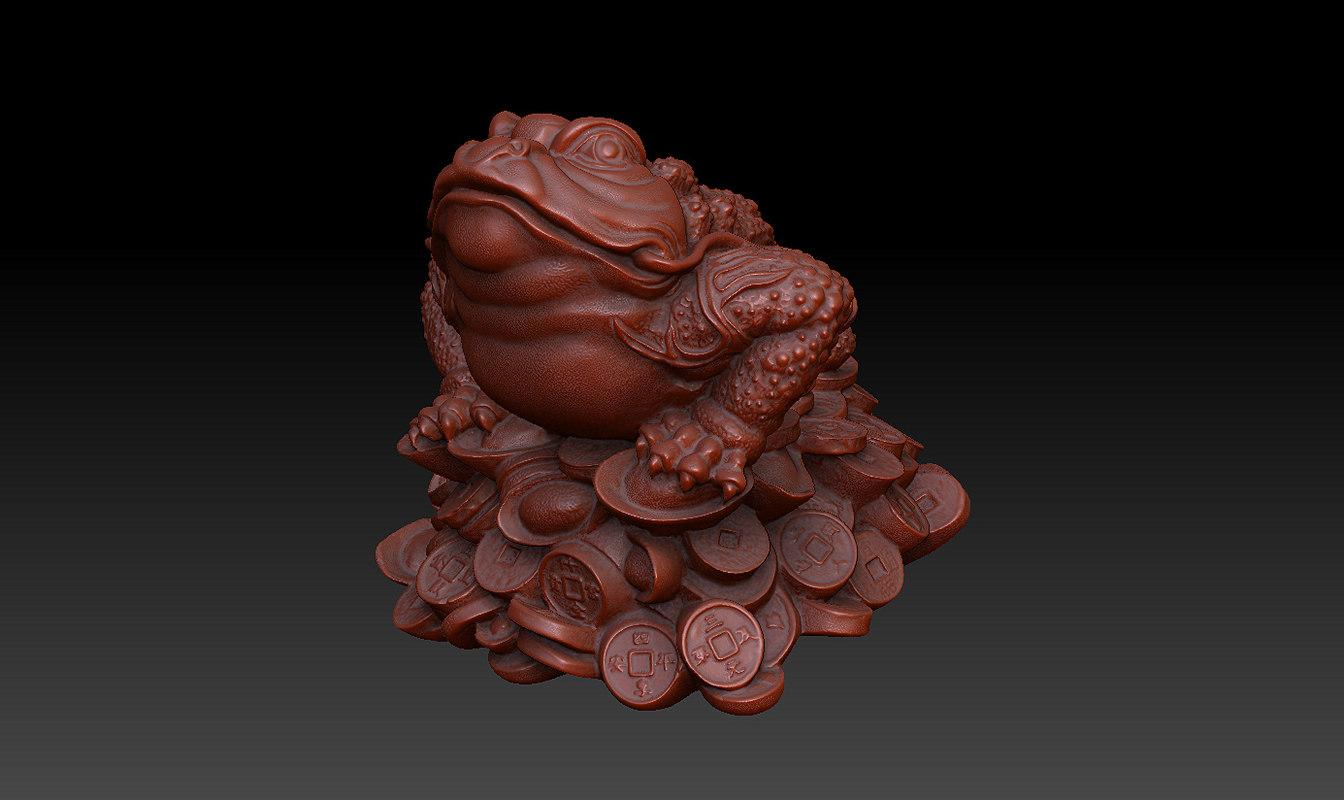 feng frog toad chan 3d obj