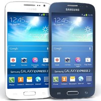 Samsung Galaxy Express 2 Blue And White