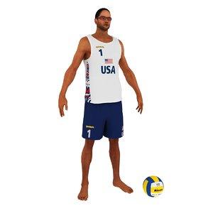 3d beach ball player