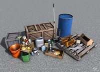 Low-poly props pack