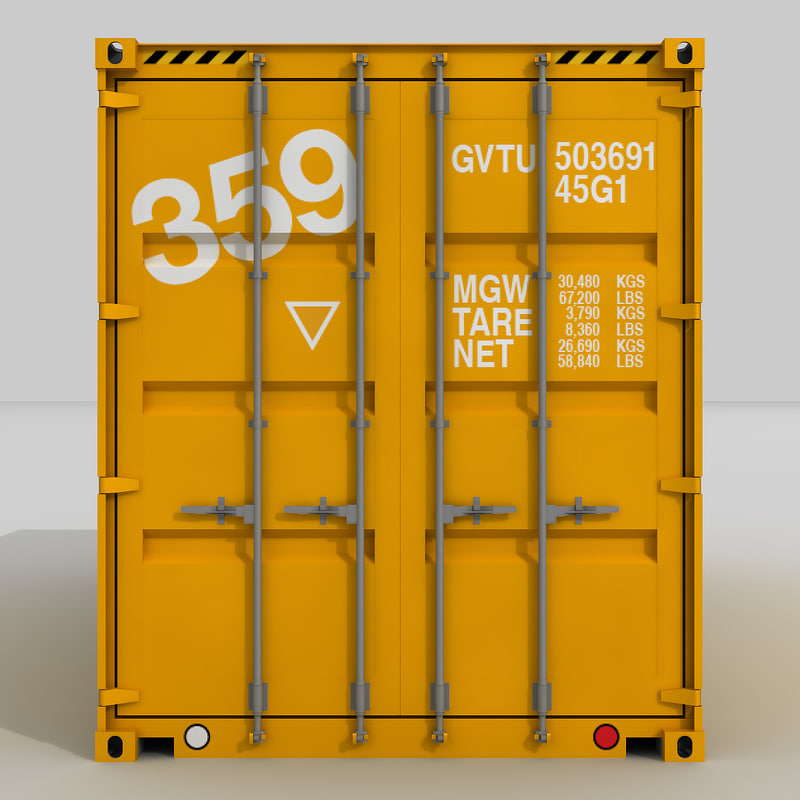 20 shipping container 3d model
