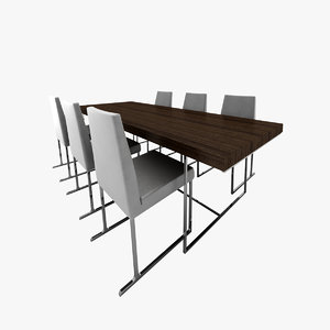 3d model camerich edge dining table