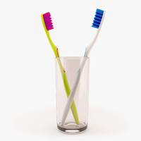 toothbrush brushes 3d model