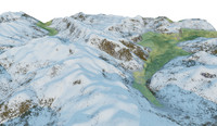 mount lanscape 3d model