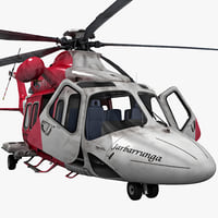 3d agustawestland aw139 2 rigged model