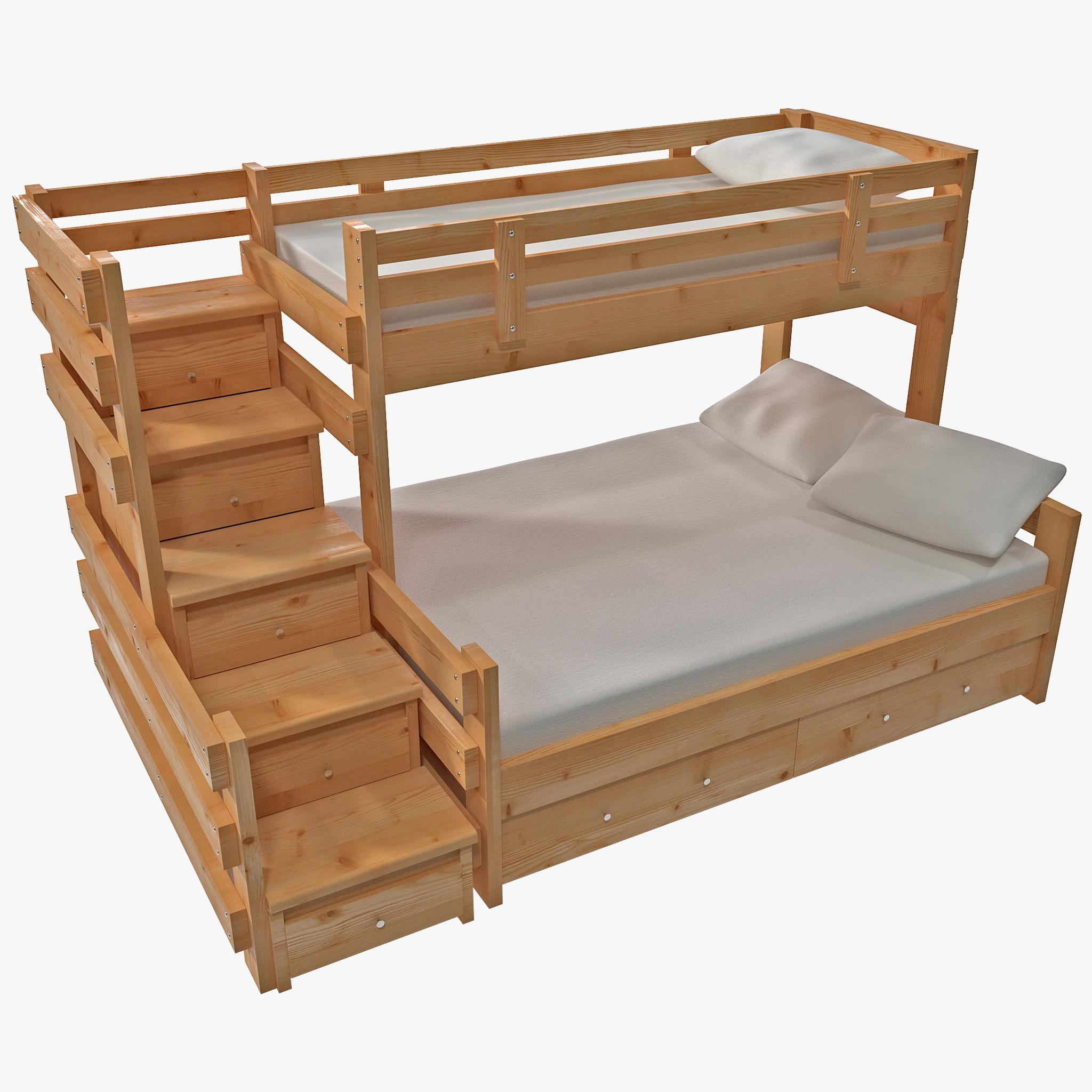 3d bunk bed model