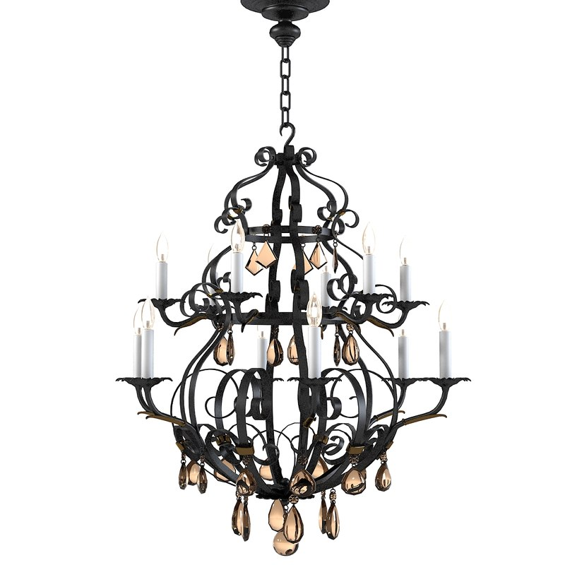 3d french provencial chandlier