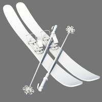 3d model of ski board