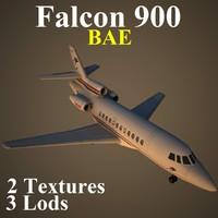 3d dassault falcon 900 bae