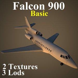 3d model dassault falcon 900 basic
