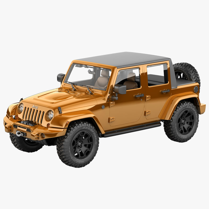 3d model jeep wrangler moab half