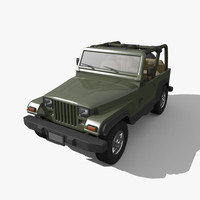 3d model of jeep