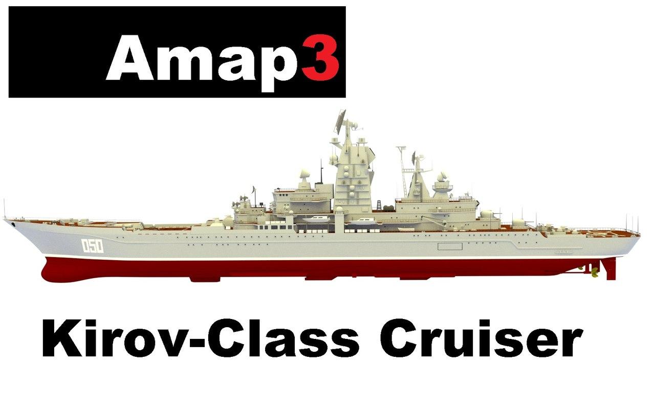 3d model kirov-class cruiser