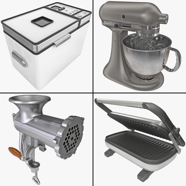 3d kitchenware stand mixer