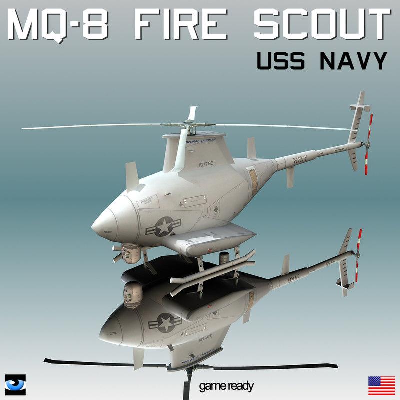 3d model northrop grumman mq-8 scout